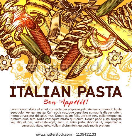 Italian Pasta Bon Appetit Italian Pasta Pasta Menu Menu Cover