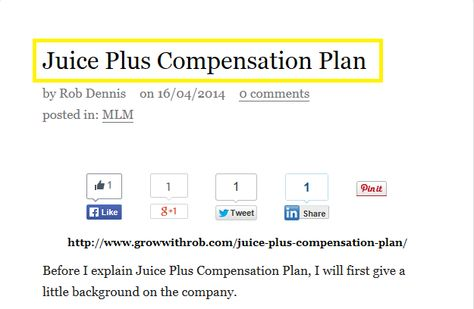 Juice Plus Compensation Plan Juice Plus Compensation Plan