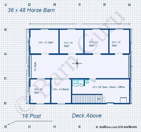 5 Stall Horse Barn With Living Quarters Horse Barn Designs Horse Barn Plans Barn Plans
