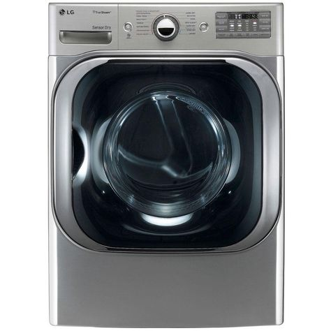Lg Gas Dryer With Steam Technology 9 0 Cu Ft Graphite Steel Gas Dryer Stackable Washer Dryer Dryer