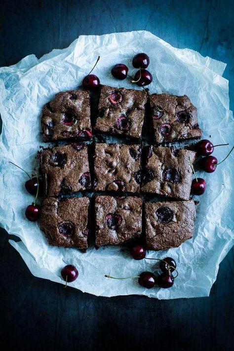 Die Glücklichmacherei: Kirschen  Schokolade = Dreamteam〖Brownies mit Kirschen〗