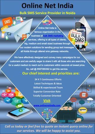 Bulk SMS Service Provider in Noida | Bulk sms service provider Noida