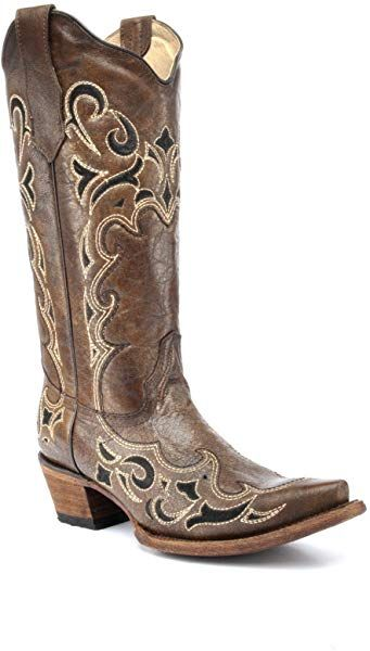 ed6a9aea047 Amazon.com | Corral Circle G Boot Women's 12-Inch Distressed Leather ...