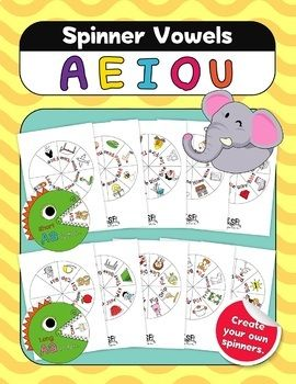 Short And Long Vowel Activity Spinner For Interactive Learning Vowel Activities Interactive Learning Long Vowels Activities