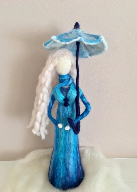 Needle Felted Doll Waldorf inspired Doll Art Figure Art | Etsy