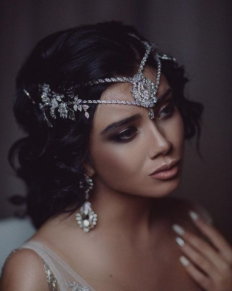 Ideas For Wedding Veils And Headpieces Crystals Art Deco