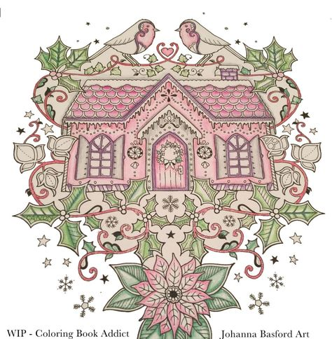 free christmas  winter coloring pages for adults