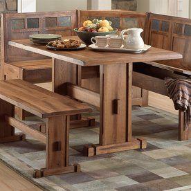 Sunny Designs Sedona Rustic Oak Wood Counter Table Lowes Com Kitchen Table Settings Corner Kitchen Tables Kitchen Table Bench
