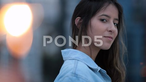 Portrait of girl on top of rooftop with fire sparkle in the foreground4 Stock Footage #AD ,#top#rooftop#Portrait#girl