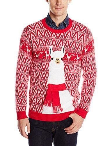 Red//White Small Blizzard Bay Mens Ugly Christmas Sweater Santa