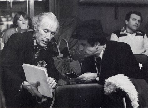 Eric Rohmer and François Truffaut during the filming of La ...