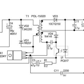 12 Volt 2 A Switching Power Supply Power Supply Power Supply Circuit Circuit Diagram