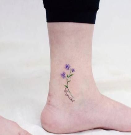 58 Best Iris Flower Tattoo With Name In 2020 Violet Tattoo Violet Flower Tattoos Iris Flower Tattoo