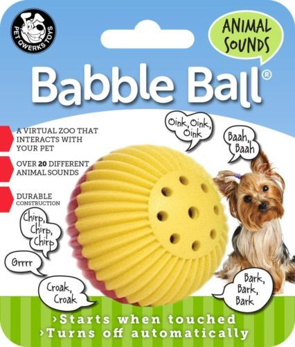 Details About Pet Qwerks Animal Sounds Babble Ball Interactive Dog