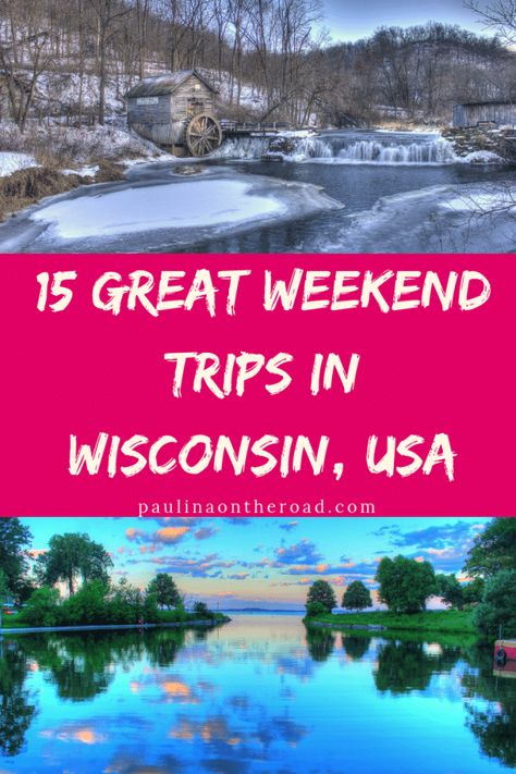 Discover the Best Weekend Trips in Wisconsin. Including day trips from Milwaukee… Discover the Best Weekend Trips in Wisconsin. Weekend Getaways In Wisconsin, Best Weekend Trips, Wisconsin Vacation, Wisconsin Dells, Madison Wisconsin, Day Trips, Milwaukee Wisconsin, Lake Michigan, Camping In Wisconsin