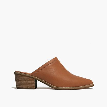 A leather mule with a cool pointed toe
