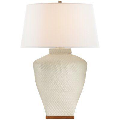 Ralph Lauren Home Isla 35 Table Lamp Finish White Leather
