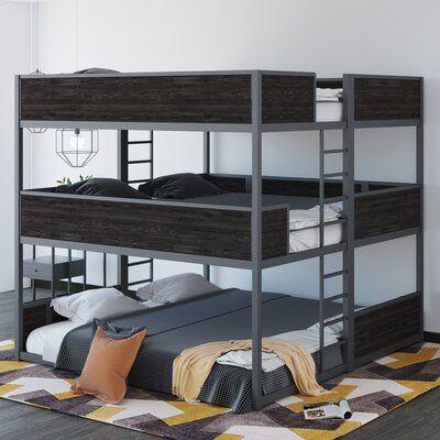 Isabelle Max Jalynn Heavy Duty Triple Bunk Bed In 2020 Bunk