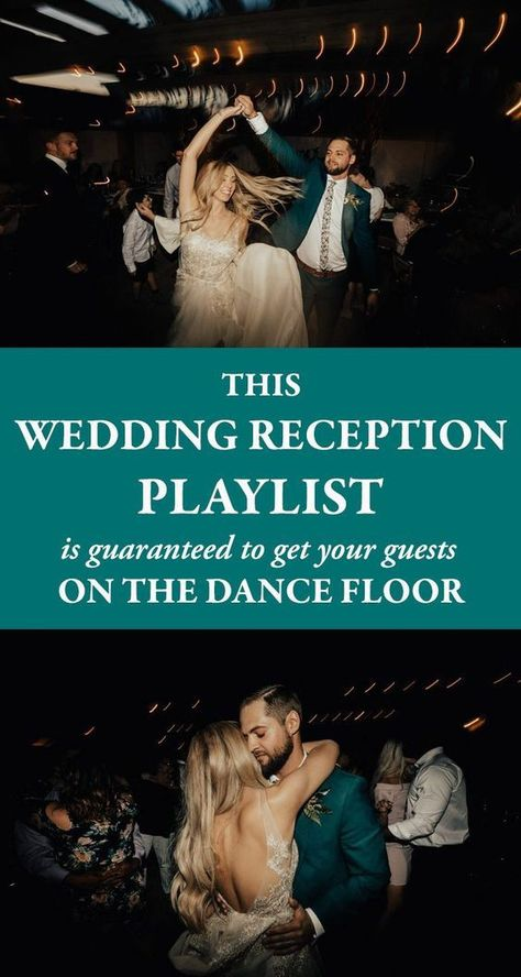 From country to hip-hop classic and from R&B to pop hits, this wedding reception playlist has songs you need to keep the party going all night long. wedding dance floors This Wedding Reception Playlist is Guaranteed to Get Your Guests on the Dance Floor Wedding Reception Songs Dance, Reception Entrance Songs, Wedding Reception Timeline, Dance Floor Wedding, Reception Party, Wedding Dj, Wedding Reception Decorations, Trendy Wedding, Reception Ideas