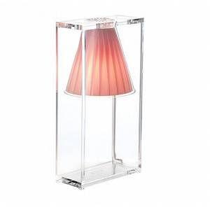Kartell Lampe De Table Light Air Rose Technopolymere Thermoplastique Transparent Et Tissu Myareadesign Com En 2020 Abat Jour Peint Lampe Rose Lampe Murale