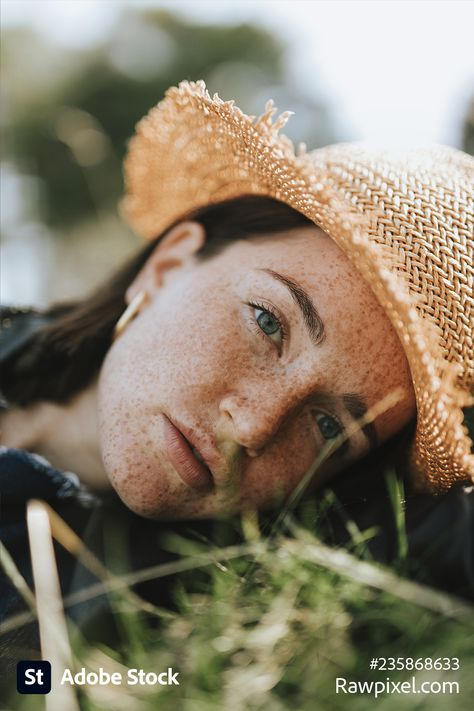 Portrait of person with freckles