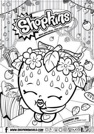 Shopkins Coloring Pages Season 1 Strawberry Kiss Shopkins Colouring Pages Coloring Pages Coloring Books