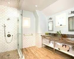 Hardwood Floor With Subway Tile Wood Floor Bathroom Wood Look Tile Bathroom Wood Tile Bathroom