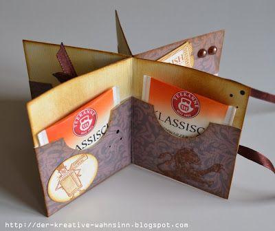 Geburtstag Geldgeschenk Mitbringsel Teebeutelbuch  für je 6 Teebeutel