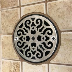 3 25 Round Replacement Shower Drain Cover Classic Motif No 7