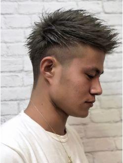 メンズフェード ダブルカラー メンズヘアカット メンズ ヘア