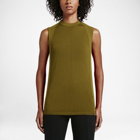 NIKE SPORTSWEAR TECH KNIT TANK TOP WOMEN'S BLACK