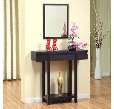 Foyer Console Table And Mirror Set
