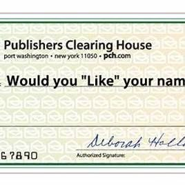 Blank Publishers Clearing House Check Publishers Clearing House Congratulations To You Publishing