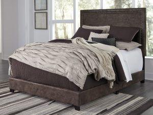 Dolante Brown Queen Bed Bestway Rent To Own Upholstered Beds Furniture Upholstered Platform Bed