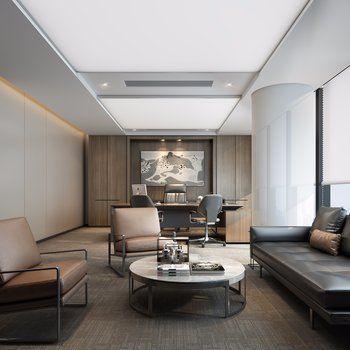 34 Elegant Contemporary Home Office Design Ideas Contemporary Design Elegant Execut In 2020 Contemporary Office Design Home Office Design Office Interior Design