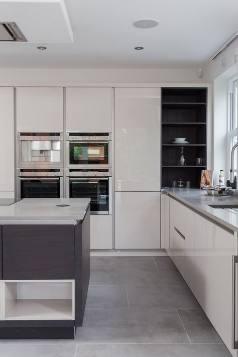 12 best Handleless Veneer and Glass Kitchen - Nolte completed - küche mit side by side kühlschrank