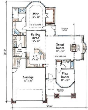 Plan 41673db One Story House Plan With 1 To 2 Bedrooms Small House Plans Craftsman Style House Plans House Plans