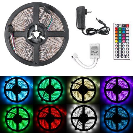 Eeekit Flexible 16 4ft Led Strip Lights 300led Smd 3528 Leds 44key Remote And Power Supply For Kitchen Bedroom Car Bar Walmart Com Led Strip Lighting Strip Lighting Led Lighting Bedroom