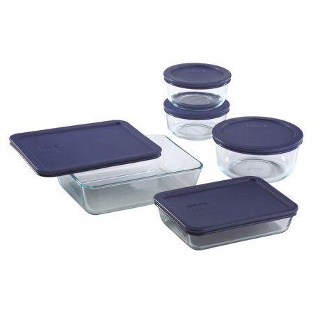 Pyrex Simply Store Set 10 Piece Walmart Com Pyrex Storage Glass Food Storage Food Storage Container Set