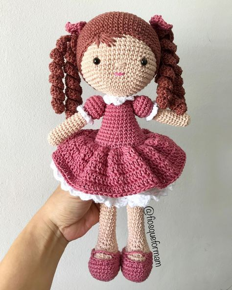 Como fazer diferentes tipos de cabelos de crochê | Amigurumi ... | 592x474