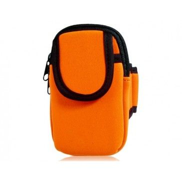 Sports Orange Pouch Armband for iPhone