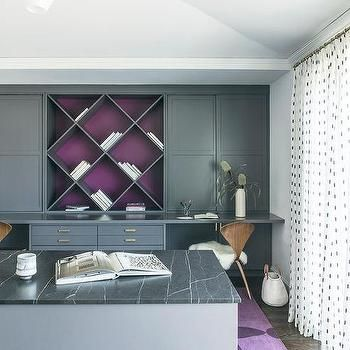 Purple And Gray Home Office Color Scheme With Images Home Office Colors Office Color Schemes Gray Home Offices