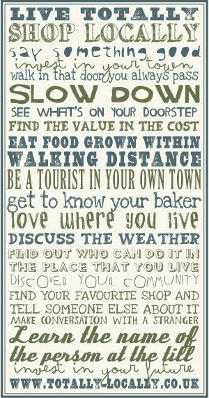 Love where you live!  Be a tourist in your own town. See what's on your doorstep:)