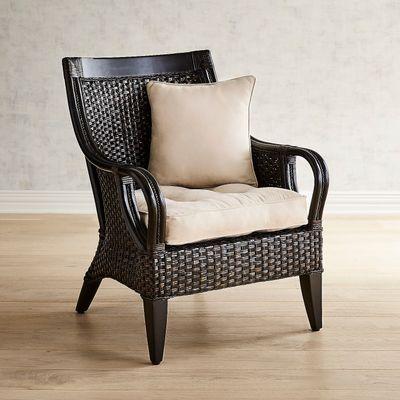 Temani Black Wicker Chair, Black Wicker Furniture