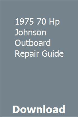 1975 70 Hp Johnson Outboard Repair Guide Honda Shadow Honda Shadow Spirit 750 Repair Guide