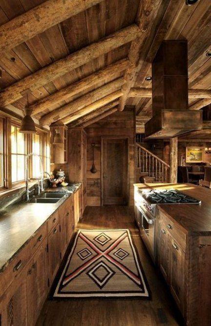 Kitchen Ideas Rustic Modern Log Cabins 29 Ideas Cabin Kitchens