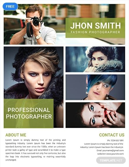 Free Fashion Photography Flyer Template Photography Flyer Photo Collage Design Fashion Photography
