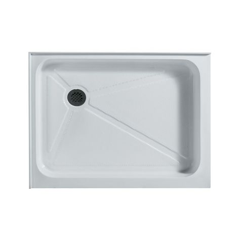 Vigo Vg060193248l 32 X 48 Rectangular Shower Tray White Left