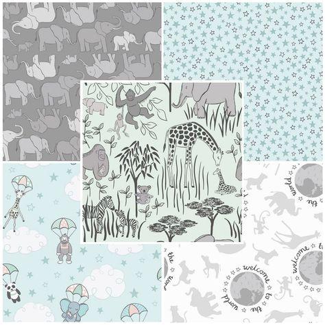 /'Multi Creams/'  Fat quarters quilt fabric Lewis /& Irene fabric