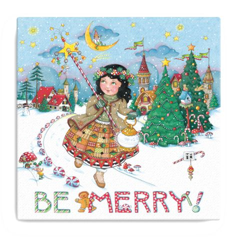 Deck the halls of any home, office, studio or classroom with Mary's classic holiday artwork!  Dimensions: 12